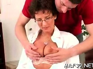 Wicked brunette cutie with big natural tits gets pounded