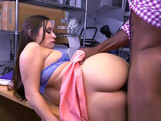Auditioning beauty interracial pounded