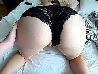 Bodacious blonde babe gets fucked deep in her black panties