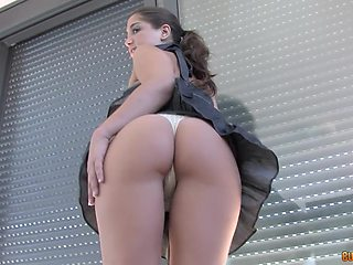 Hungarian babe with beautiful ass Carla Cruz gives her head and gets fucked hard