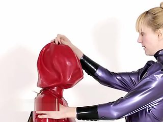 Latex balloon bondage