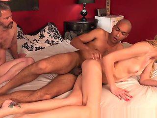 Kara Stone And Cuckold Husband Share A Black Cock
