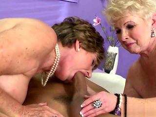 Molly And Sally Share A Young Cock