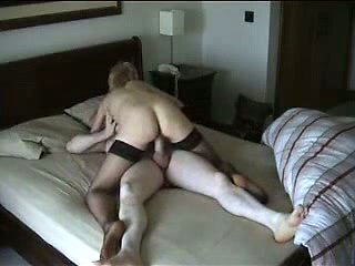 Cheating Blonde Wife Riding BF's Dick on Hidden Cam
