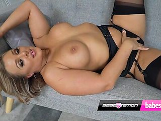 Beth Bennet in black lingerie