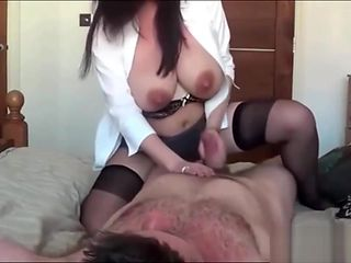 Lactating Mom gets her Big Titties Sucked Pussy Fucked