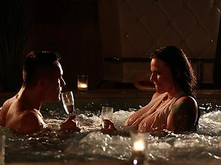 Romantic fucking in the pool with stunning GF Simony Diamond