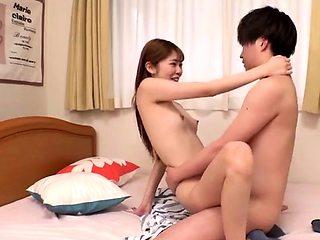 Adorable Asian schoolgirl satisfying her wild sexual needs