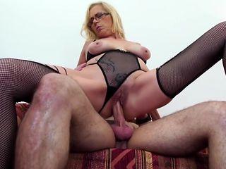 Mature shameless mom seduce lucky son