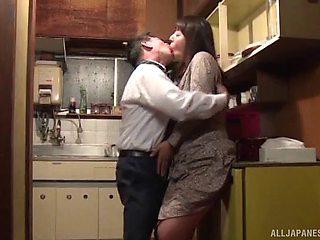 Nice tits Japanese wife Ryoko Murakami moans during passionate sex