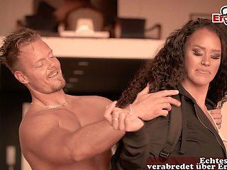 german fitness trainer seduced big tits amateur milf
