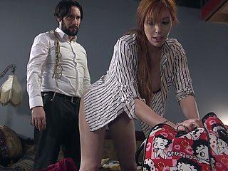 Tied up big racked slut Lauren Phillips deserves some brutal doggy anal