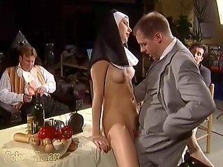 Nun Fuck On The Table