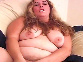 Steamy Big Beautiful BBW Wife Masturbates Well with Her Dildo