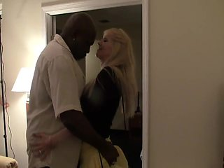 Amateur blonde milf fuck black man
