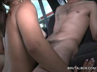 Cute amateur gets licked and eats huge cock