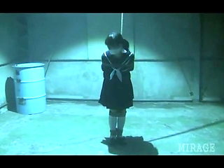 Japanese Schoolgirl tied and gagged in warehouse