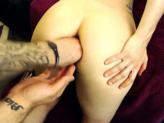 Kinky amateur girl bends over and gets her juicy ass fisted