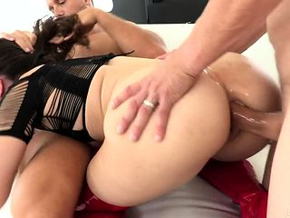 Double penetration and hardcore anal