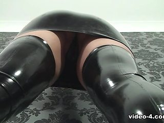 Pixie in Black Dress and Stockings - LatexHeavenVideo