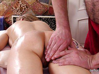 Hot Gwyneth Petrova wet pussy massage
