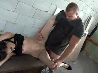 Girl tied up and rough fucked