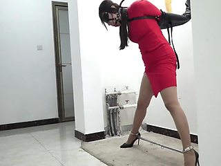 Chinese Woman Bound In Red