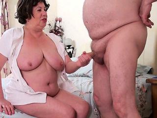 Elderly Trisha enjoyed the doctors not so big cock