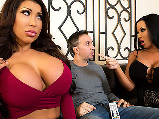 August Taylor & Sybil Stallone & Keiran Lee in Sharing Is Caring - Brazzers