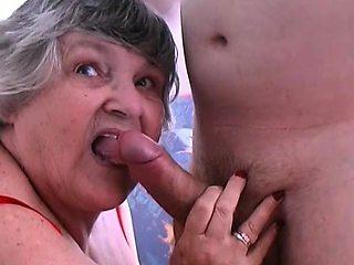 80 year old Grandma Libby fucks young lad