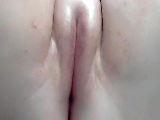 Close up tight beaver dildoing