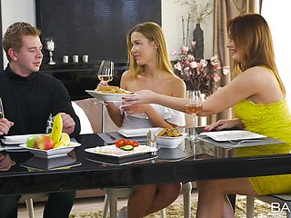 Eva Berger and Alexis Crystal have mesmerizing threesome sex
