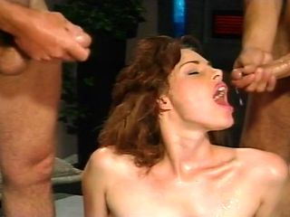 Hot 1980's Double Penetration Threesome Action
