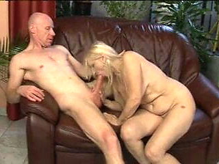 Saggy Tits Granny Fucked by a Bald Man