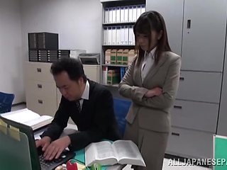 Asian office girl Ayu Sakurai has a blast with a doting lover