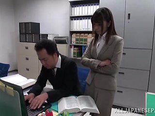 Asian office girl Ayu Sakurai has a blast with a doting lover
