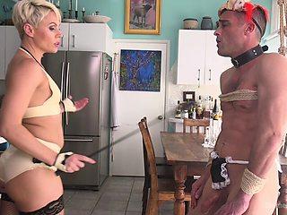 Helena Locke uses a vibrator after she gives a handjob to her friend
