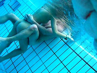 Lustful girl with a lovely ass gets fucked in the pool