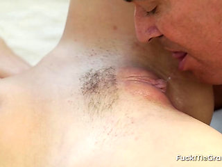 Busty Redhead Fucked simply by an Older Guy