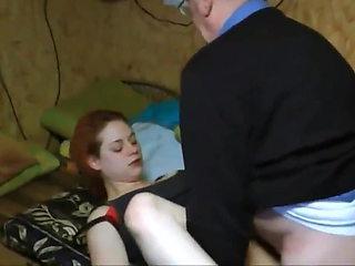 Old man fucks sexy German girl