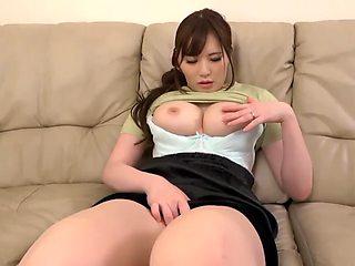 Japanese dildo masturbation
