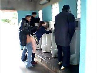 Teen in public men room