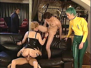 Vintage kinky orgy, fisting, strapon, latex, rubber and more