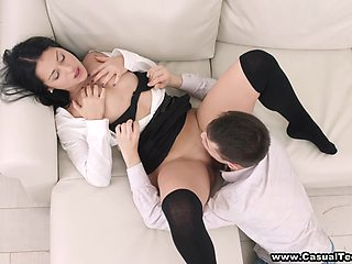 Hardcore Sex With Skinny Brunette Teenage Whore With 18 Years Old