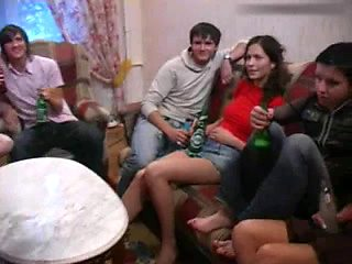 Russian Students having a party