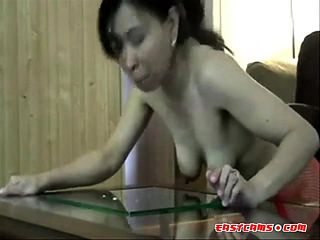 Filipina Girl Gina Jones Licking Up My Cum.