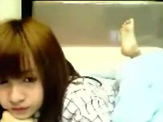 Cute chinese girl on webcam