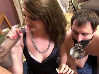 Alana Rains Cigar Smoking Interracial Cuckold Session