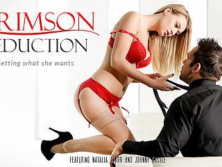 Natalia Starr & Johnny Castle in Crimson Seduction Video