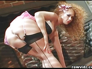 Busty Ginger Gets Her Ass Gaped With 2 Cocks Inside